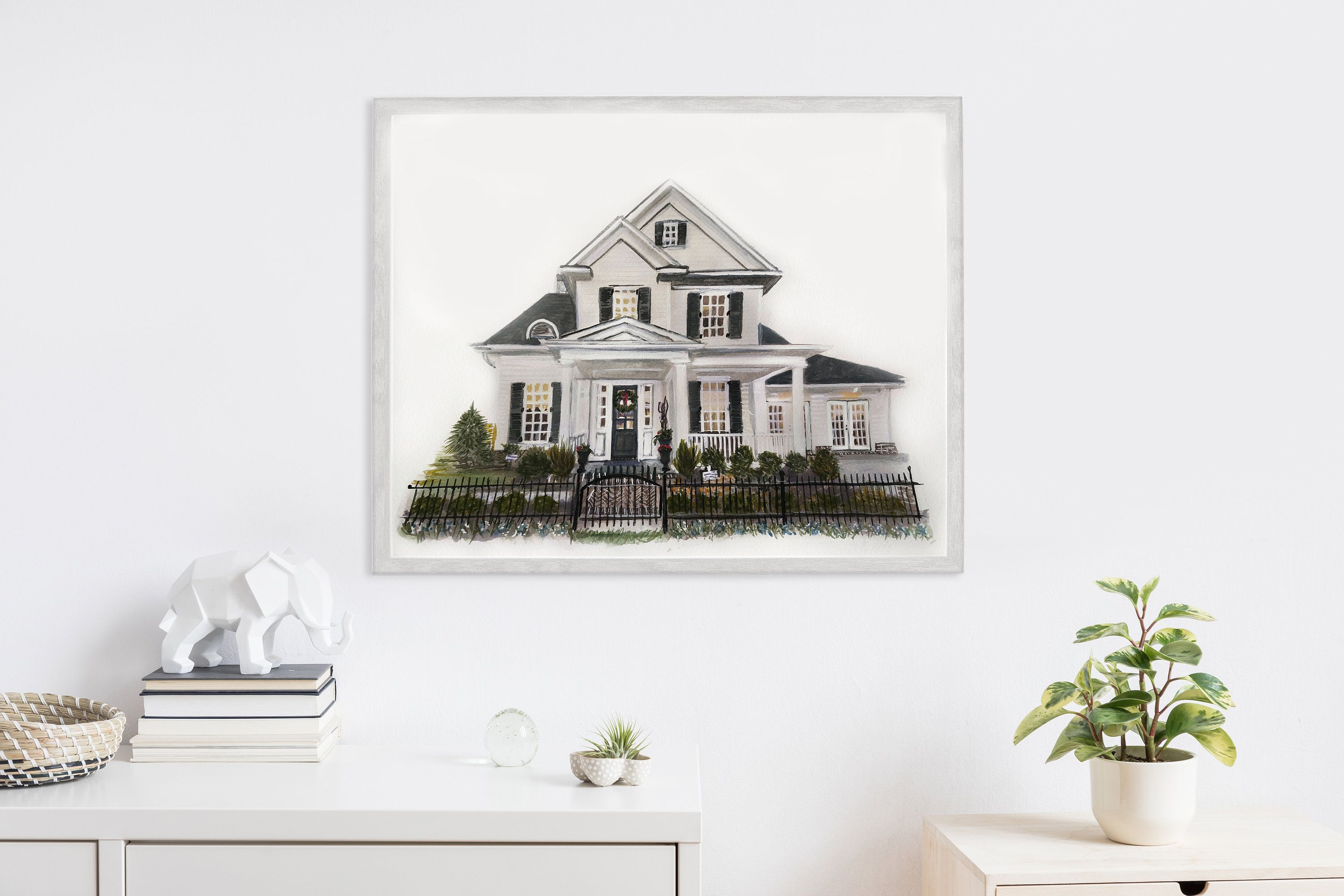 This Item Is Unavailable Etsy Watercolor House Portrait House Portraits Custom House Portrait