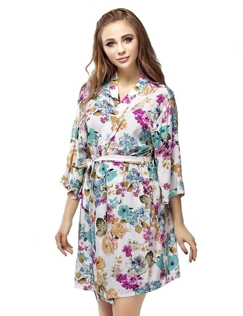 Skyfitting Women s Cotton Kimono Robe 21e731bd3