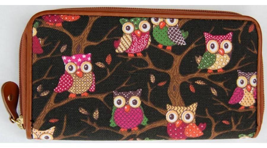 Baglyos pénztárca - fekete - Női pénztárcák  7689556c9a