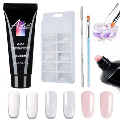 5 stks Poly gel Nagel Sets UV LED Builder Nail Gel Fake Tips Dual Ended Pen Acry…
