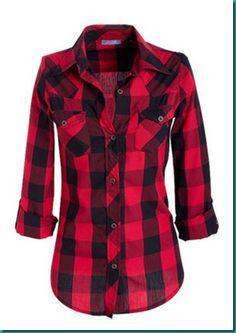 red plaid shirt | Clothes & Shoes | Pinterest | Red plaid, Plaid ...