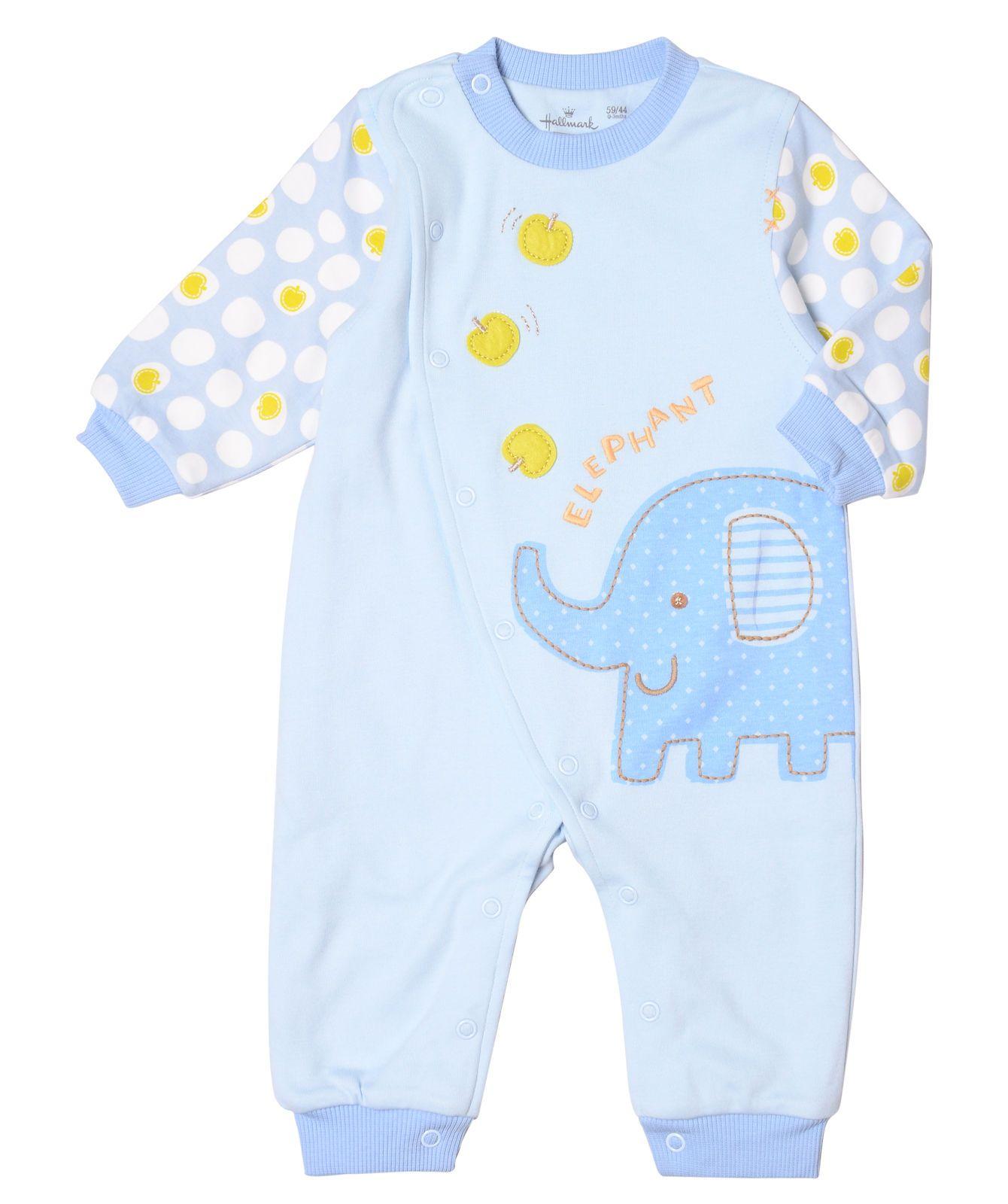 Baby Boy Elephant Fun e Piece – Blue Hallmark Baby