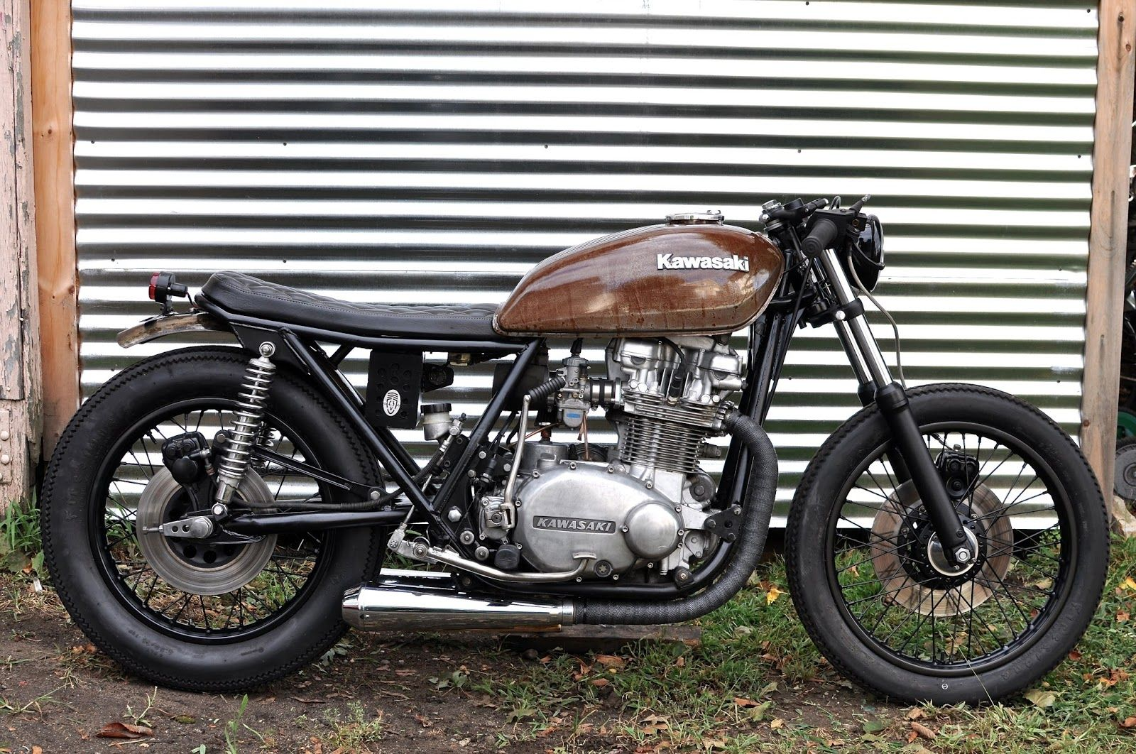 Image Result For 1978 Kawasaki 750 Twin Kawasaki Cafe Racer Motorbike Design Kawasaki