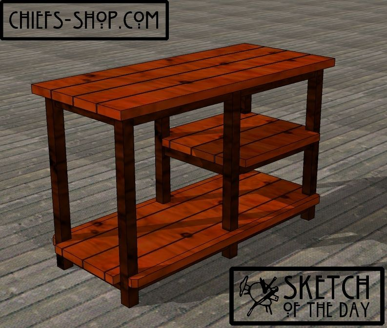 Sketch Of The Day: Deck Serving Table