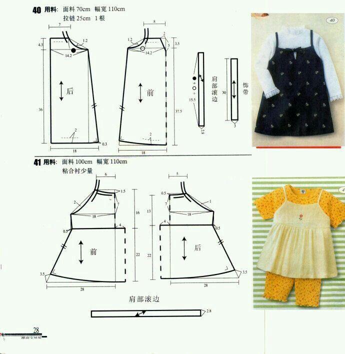 Patrón _niña.///// | ropa bb | Pinterest | Patrones, Costura y ...