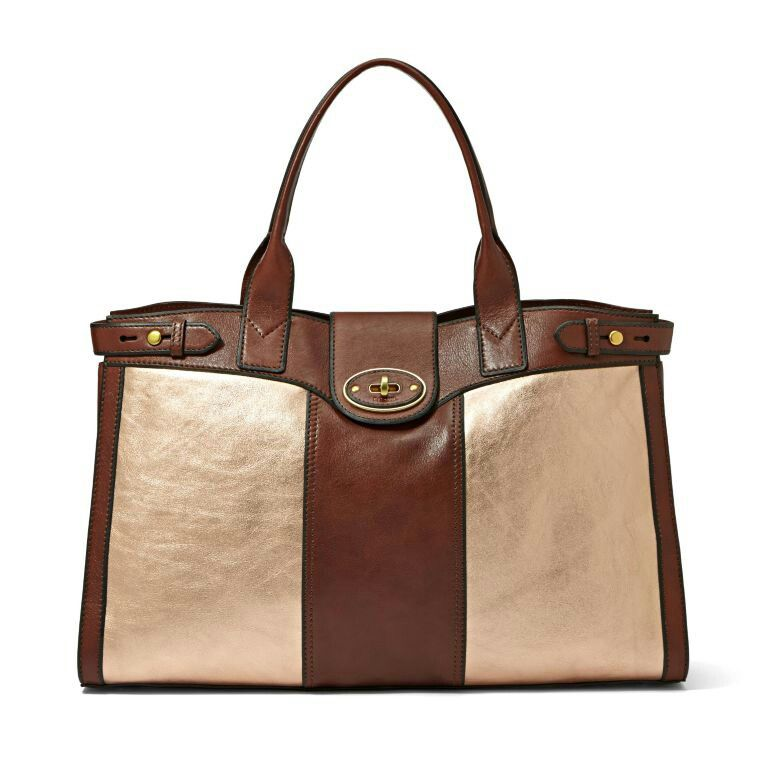 bf9a6ad5719 Fossil Vintage Re-issue Weekender in Rose Gold | Fashion/Clothes ...