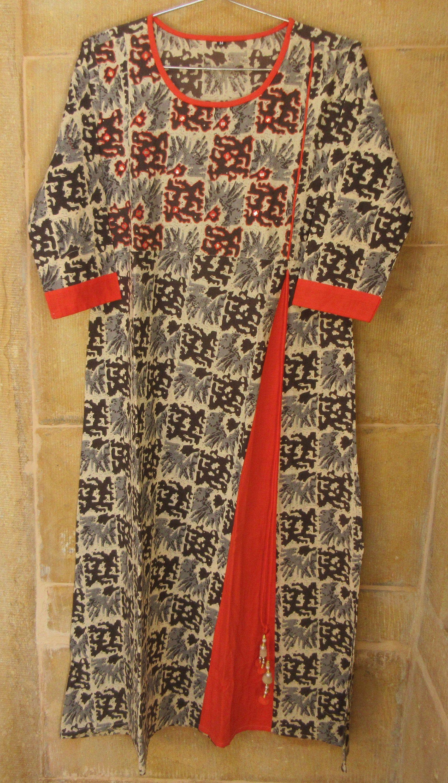 Handmade Cotton Crown Print Dress Indian Girl/'s Tunic Top Summer Dress Colorful Bohemian Dress Women/'s Kurti