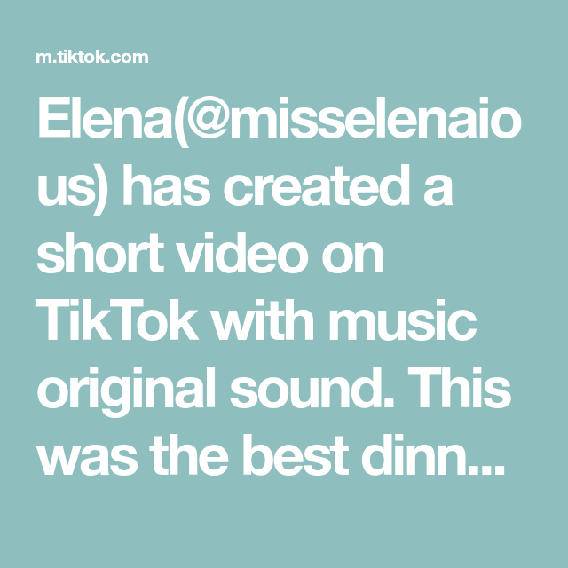 Elena Misselenaious Has Created A Short Video On Tiktok With Music Original Sound This Was The Best Dinner Ever Hype The Originals Italian Recipes Pastina