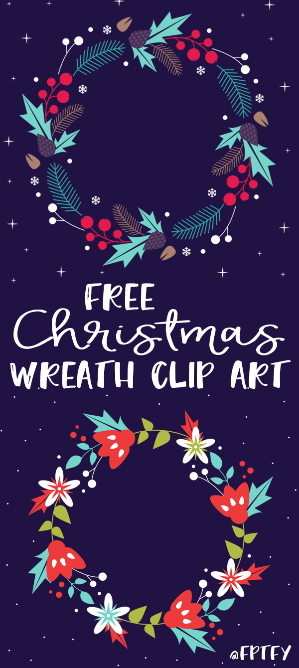 Free Christmas Wreath Clip Art | Navidad, Imprimibles y Etiquetas