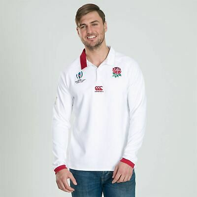 Advertisement(eBay) Canterbury England RWC 2019 Long Sleeve Classic Home Shirt Mens Rugby White Top