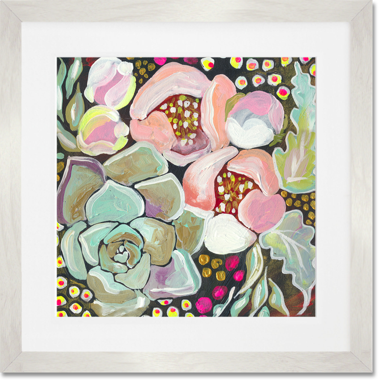 Succulent Florals, Floral Art Prints | GreenBox: Shelly Kennedy:drooz studio for GreenBoxArt