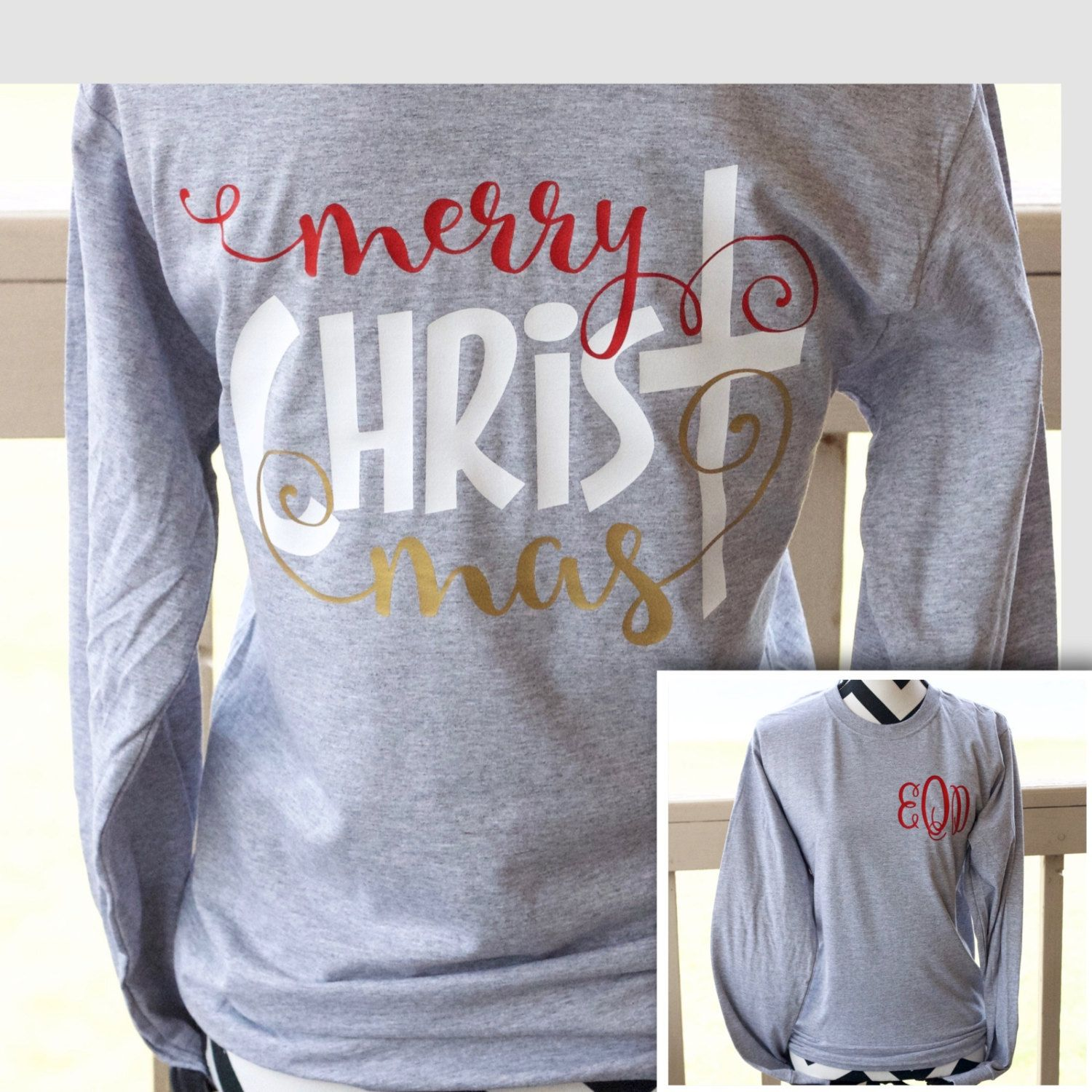 Our Monogrammed Merry Christmas Shirt Is A Must Have For