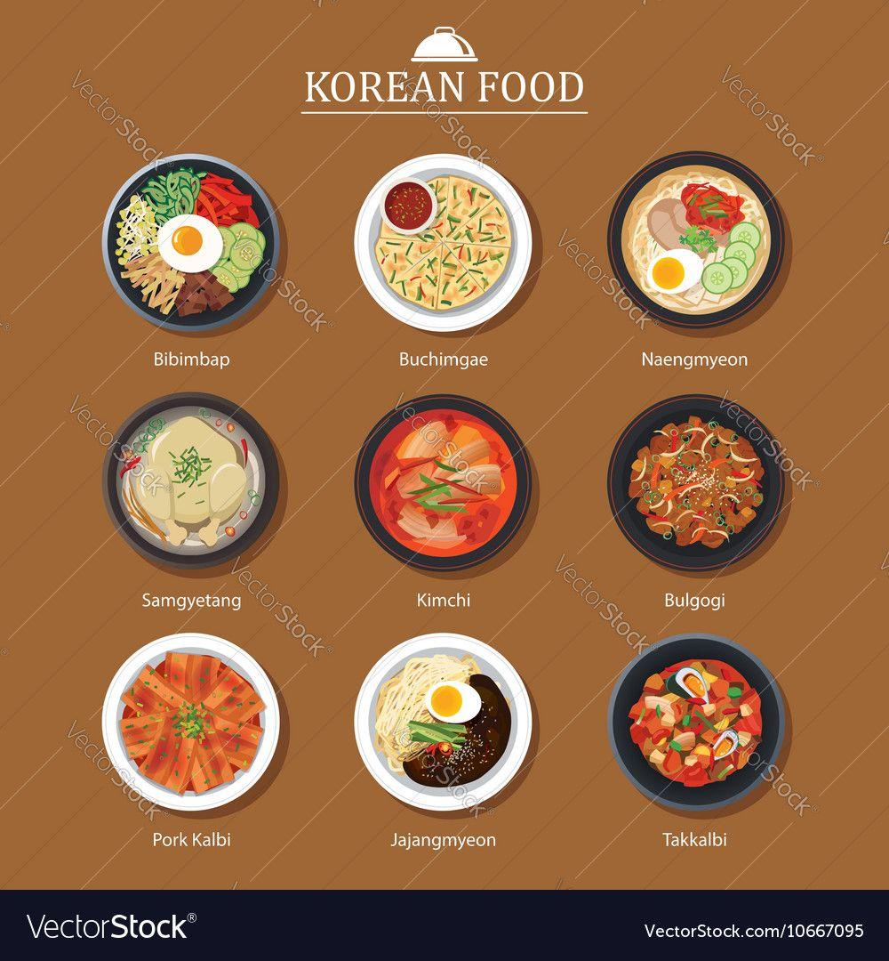 Set of korean food flat design asia street food background download set of korean food flat design asia street food background download a free preview or forumfinder Image collections
