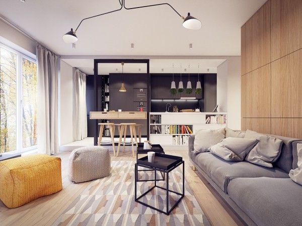 A 60s-Inspired Apartment with a Creative Layout and Upbeat Vibe