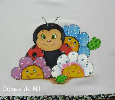 http://nilzozo.blogspot.com/2012/09/pintura-em-tecido-jogo-de-cozinha-de-oxford-com-joaninha-e-flores.html