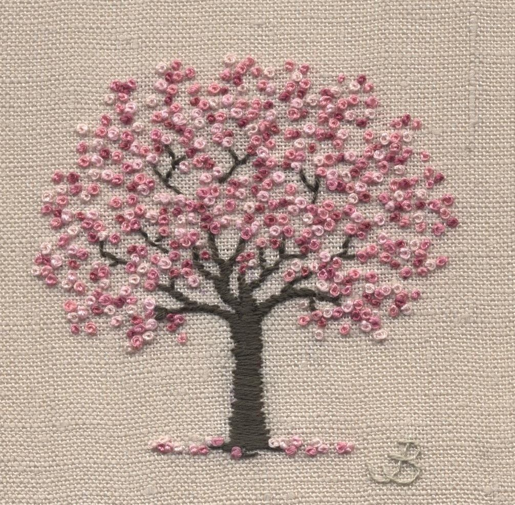 Cherry Blossom Tree Simple Embroidery Embroidery Kits Hardanger Embroidery