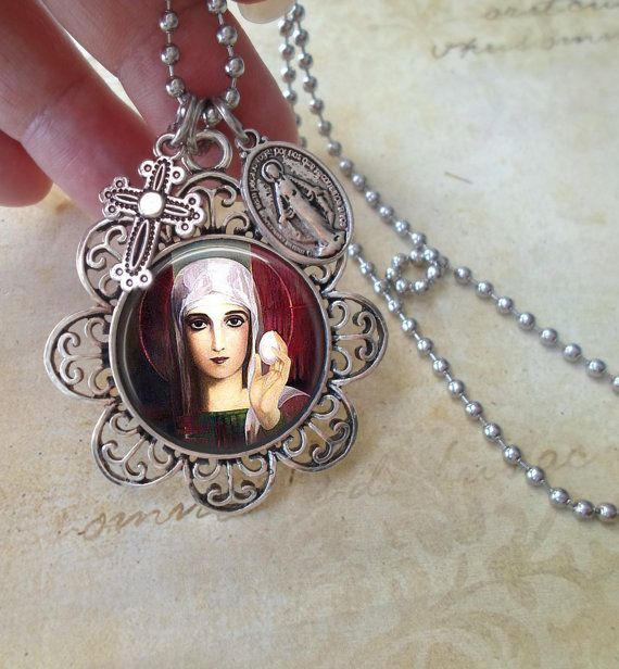 St. Mary Magdalene Beautiful Necklace in Antique by MarysPrayers