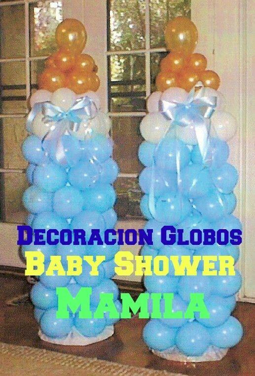 Decoracion De Globos Baby Shower Mamila Economico Y Facil Ry - Adornos-globos-economicos