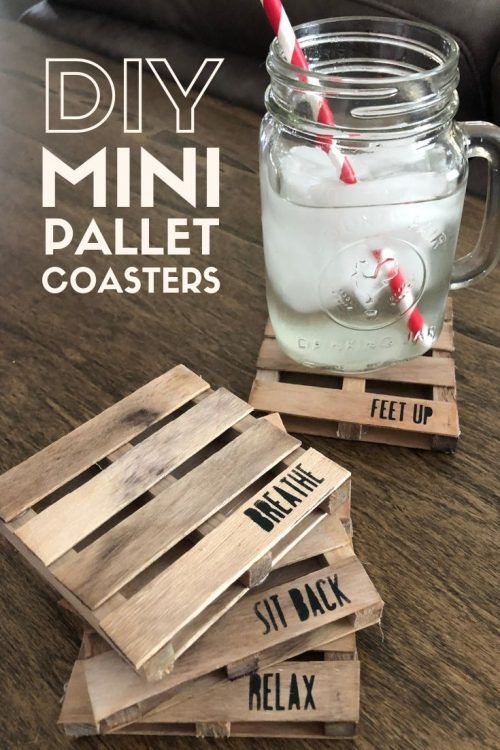Photo of Making Mini Pallet Coasters with Popsicle Sticks | The Crafty Blog Stalker