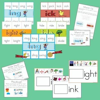 Word Families Guided reading Pinterest Kindergarten lessons