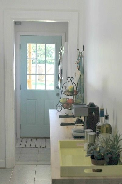 """Antiguan Sky"""" from Benjamin Moore this will be the new front door colour I think"""