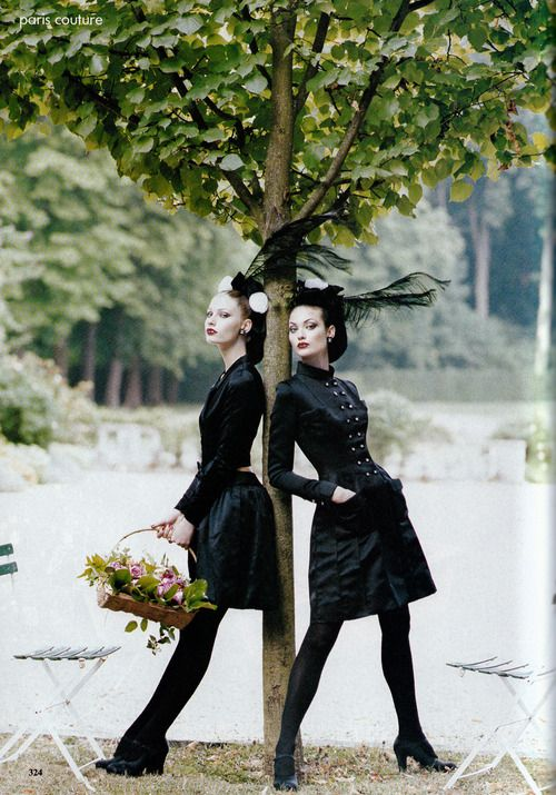 Kirsty Hume and Shalom Harlow. Photographed by Steven Meisel for Vogue USA, October 1994.