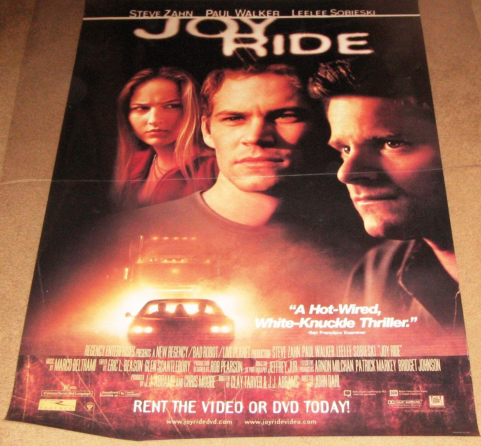 Joy Ride Movie Poster 27x40 (2001) Used Paul Walker, John Maynard ...