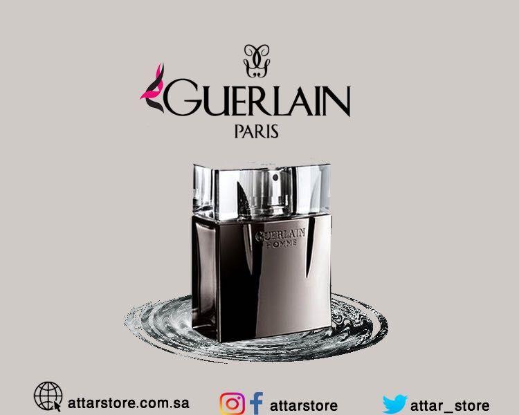 Guerlain Homme Intense عطر خشبي أروماتك لـ الرجال تتكون م قدمته من النعناع والموهيتو قلب العطر من رائحة الزهور وزهور Men Perfume Perfume Guerlain