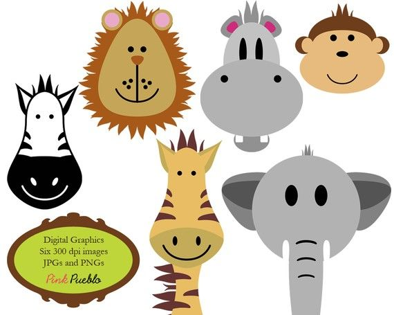 animals clip art clipart zoo jungle safari wild animals clip art rh pinterest com safari animals clipart black and white safari animals clipart free