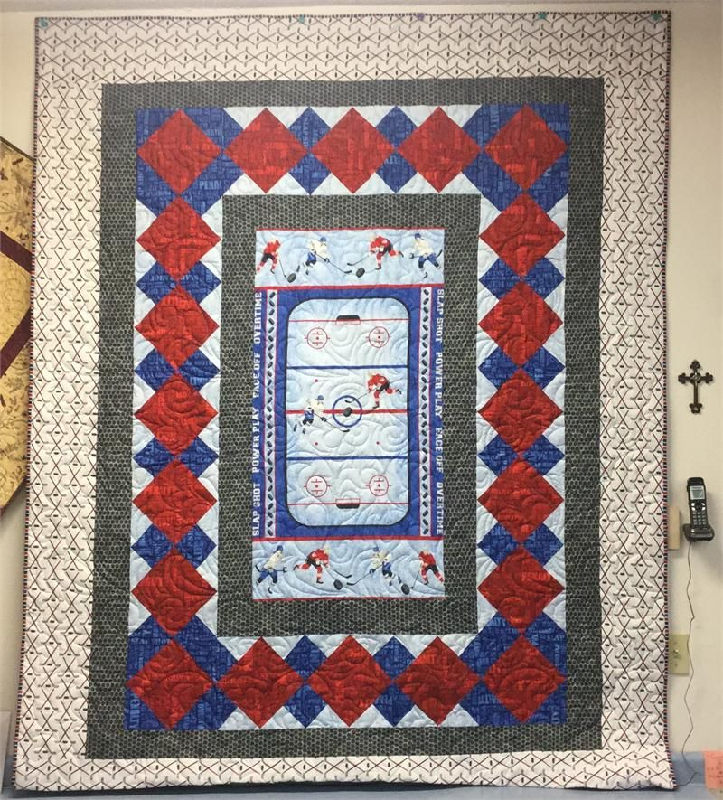 Stonehenge Slapshot Hockey Quilt Kit, Northcott | Hingeley Road ... : hockey quilt patterns - Adamdwight.com