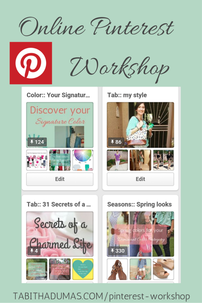 Online Pinterest workshop! Video tutorial, worksheets, Facebook group and more! From  Tabithadumas.com