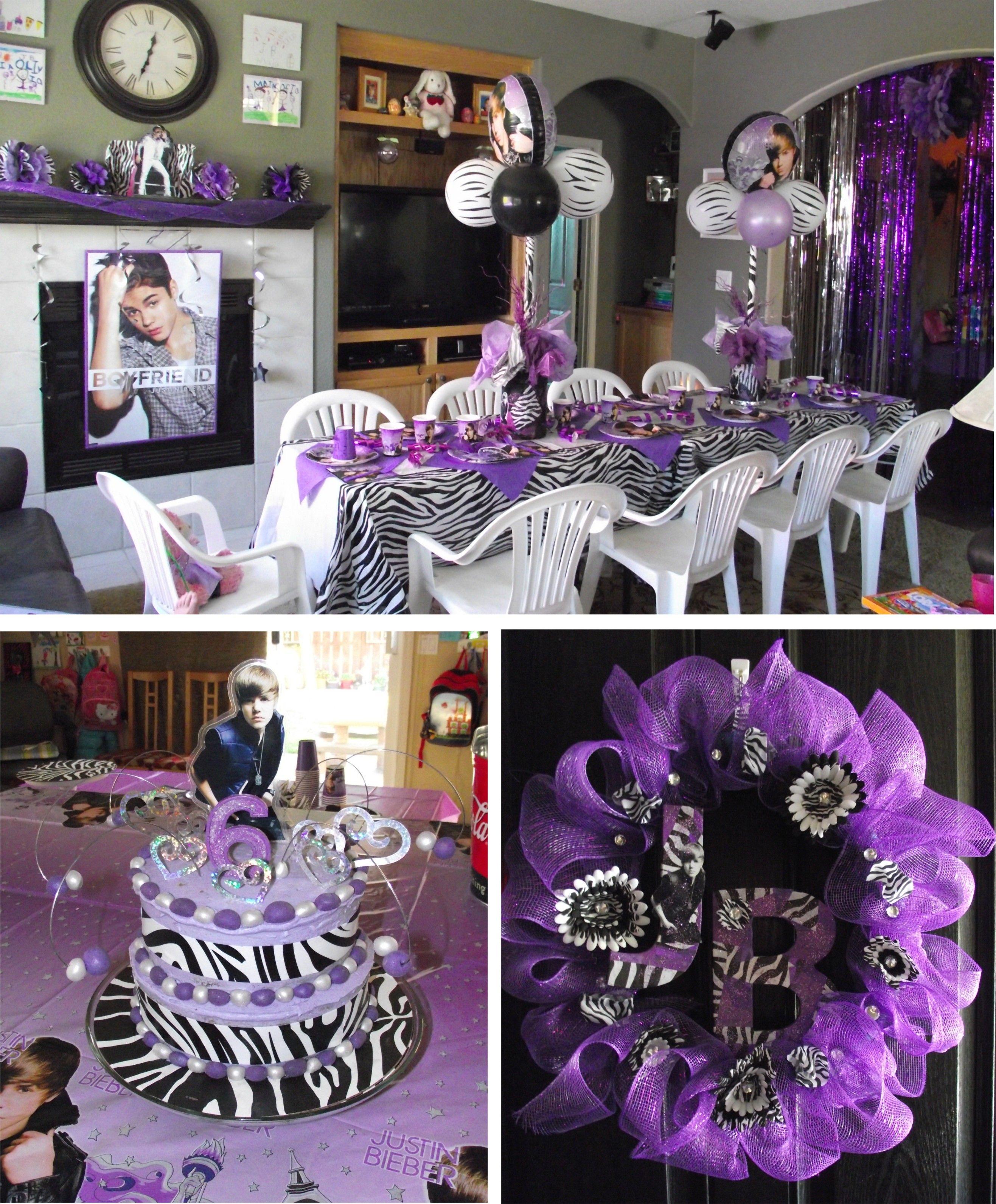 Justin bieber scrapbook ideas - Justin Bieber Birthday Party