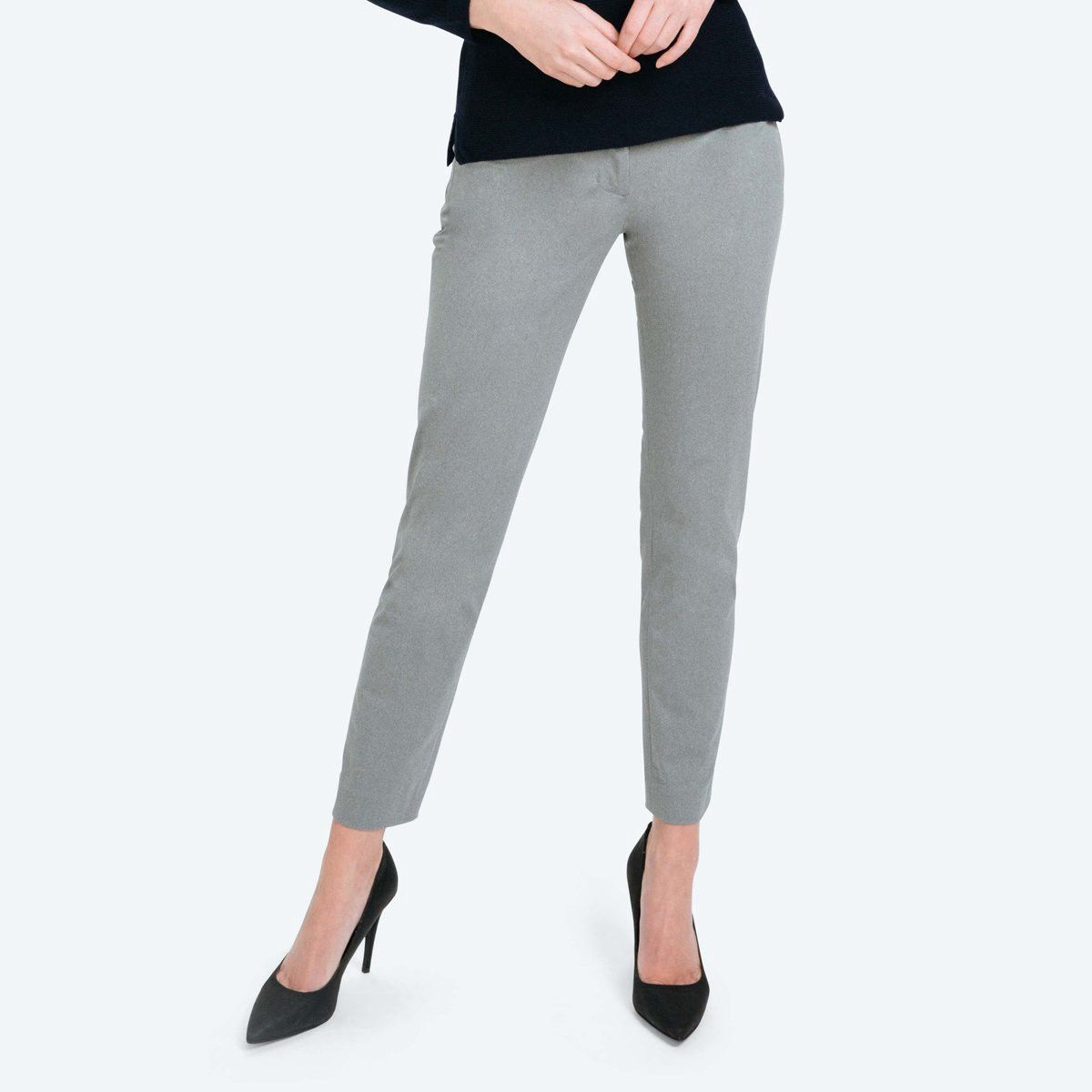 96f1a6136b9 Ministry Of Supply Women's Slim Kinetic Pants - Grey Heather 00 Gray ...