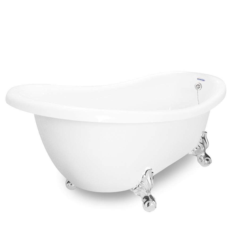 American Bath Factory 71 In Acrastone Acrylic Slipper Clawfoot