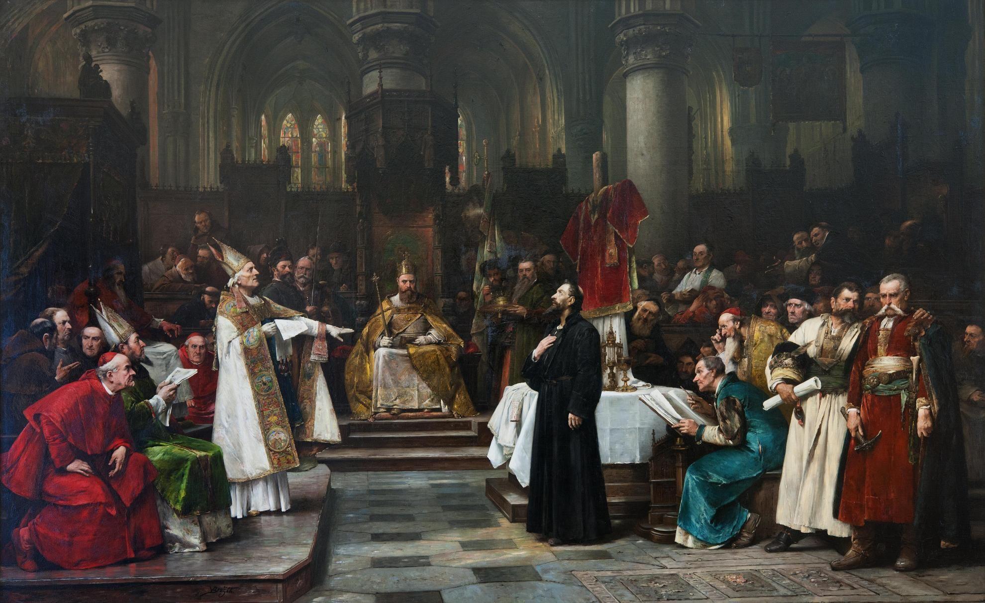 Václav Brožík, Odsouzení mistra Jana Husa na Kostnickém koncilu