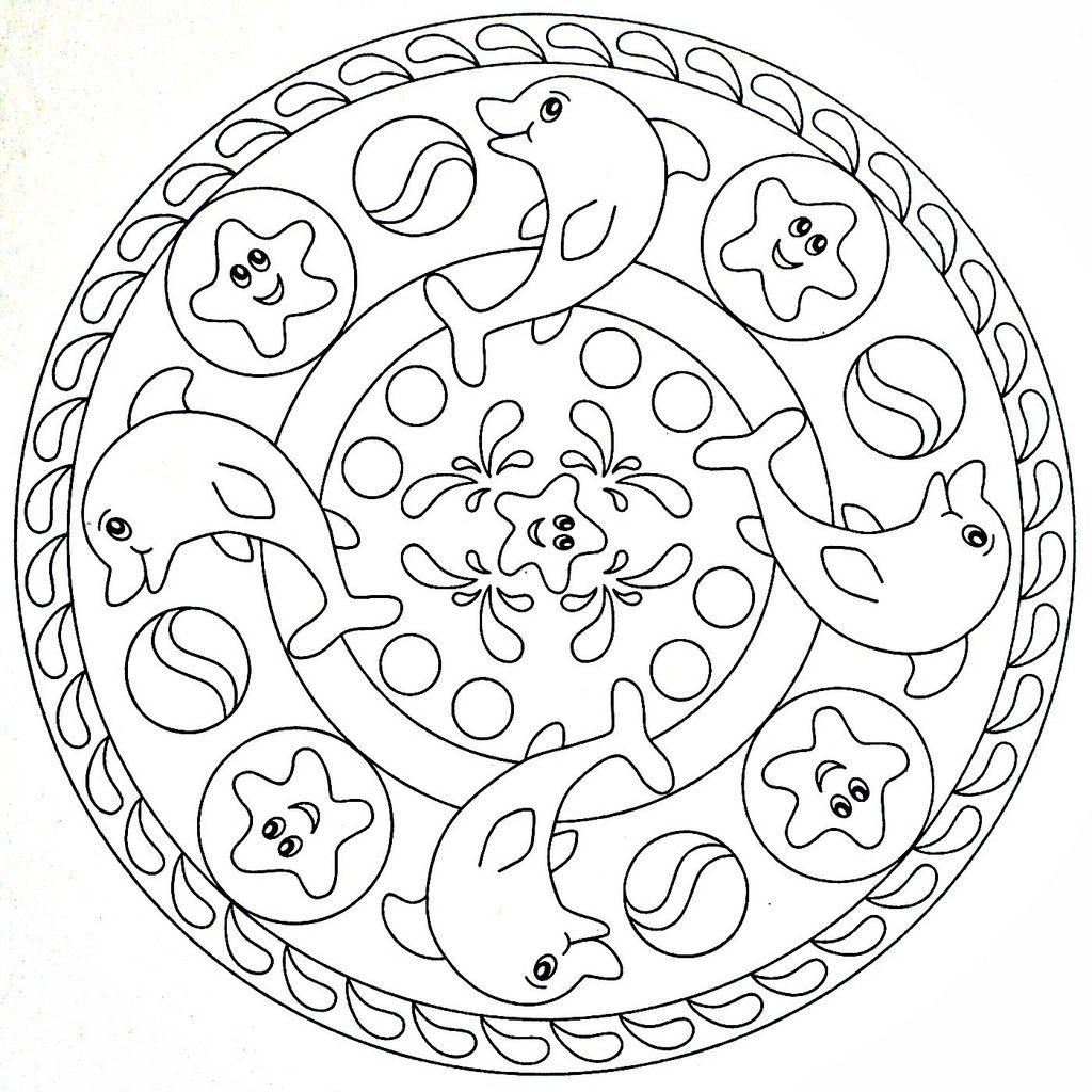 Mandala Coloring Page Dolphins Disegni Di Mandala Da