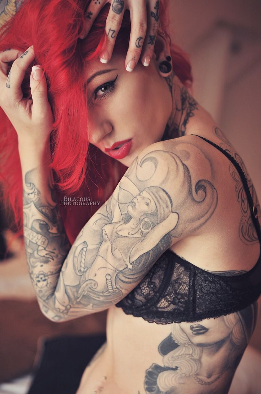 Cool tattoos for a girl cervena fox by bilacous  beautiful body art  pinterest  foxes