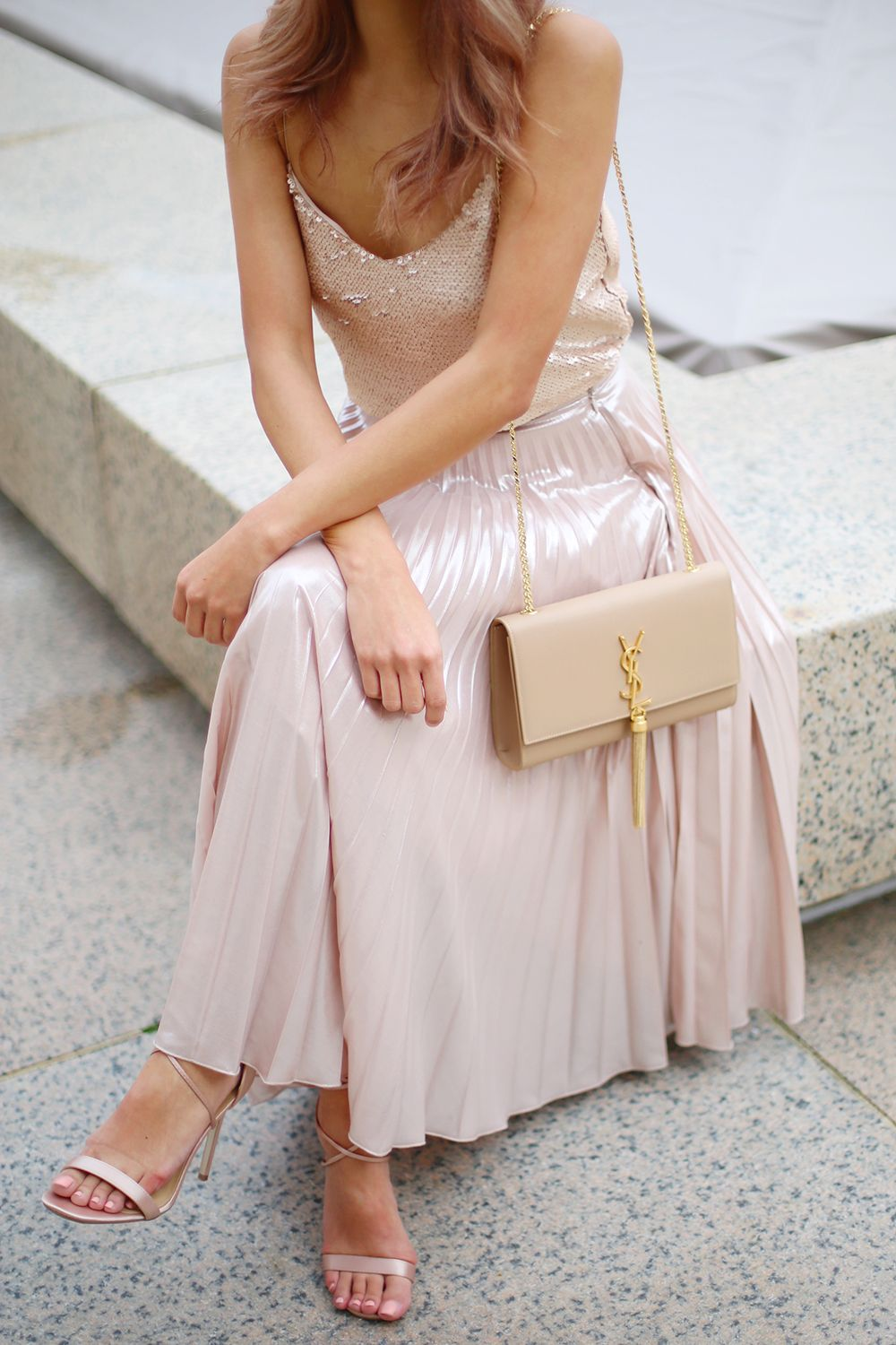 Pretty In Pink | Ootd fashion, Sequins and Designer bags