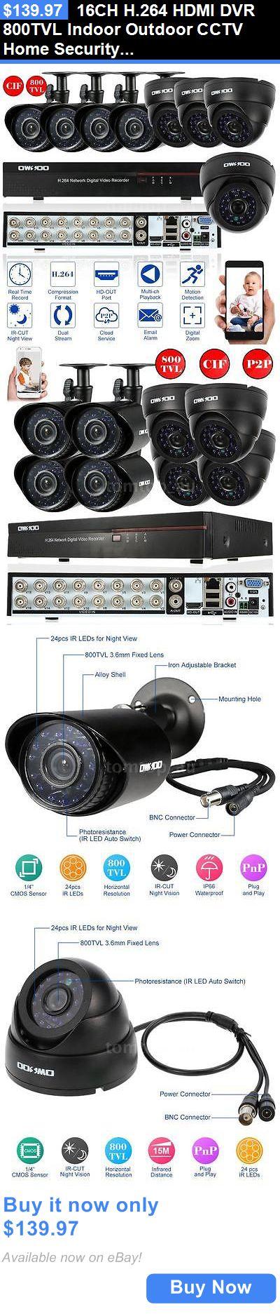 Surveillance Security Systems 16ch H 264 Hdmi Dvr 800tvl Indoor Outdoor Security Cameras For Home Wireless Home Security Systems Home Security Camera Systems