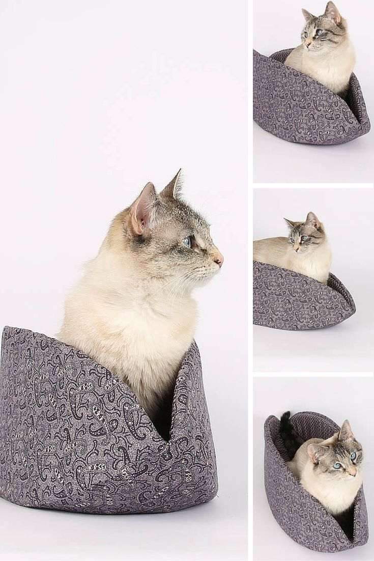 Let me guess, you have been searching for a Victorian inspired pet bed design, right? Or maybe you wanted a purple paisley Cat Canoe® This Cat Canoe® is made in a muted purple paisley print design, a