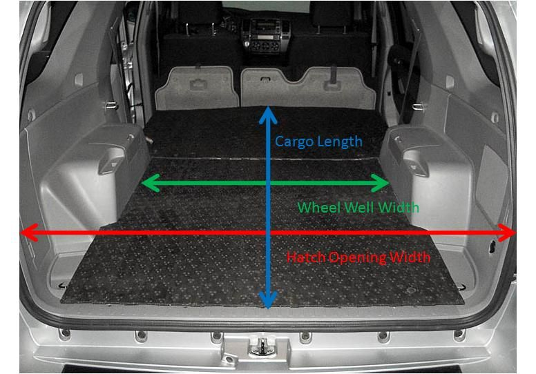 Cargo Area Dimensions 4runner Toyota 4runner Truck Bed Camper