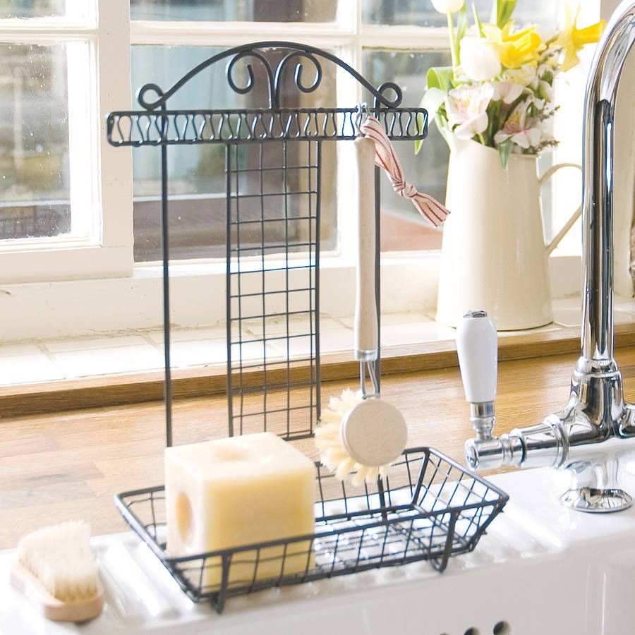 French Country Kitchen Sink Tidy And Scubbing Brush | Sinks ...