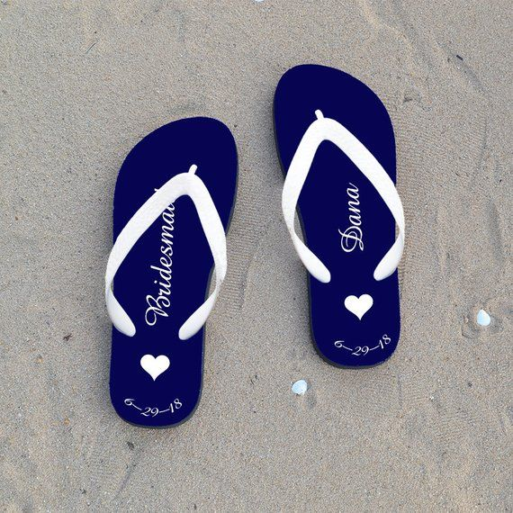 11438bf4c Bridesmaid Flip Flops