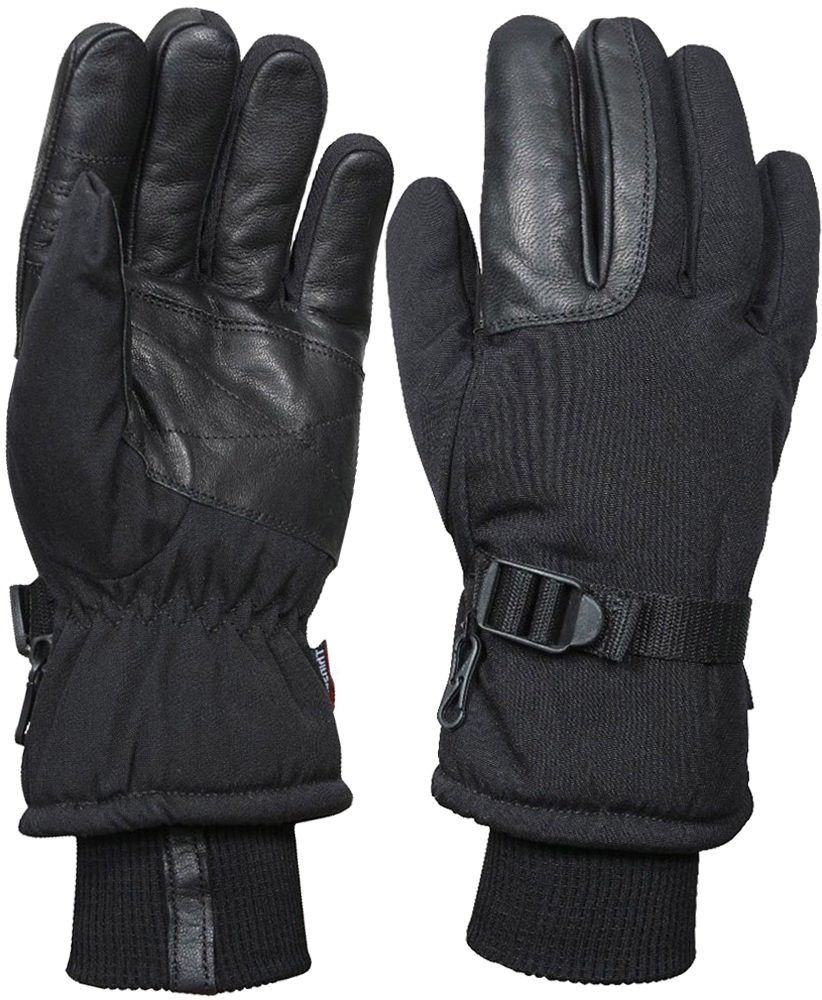Mens Black Extreme Cold Weather Insulated Waterproof Long Cuff Hunting  Gloves  Rothco 9d7fbcf36039