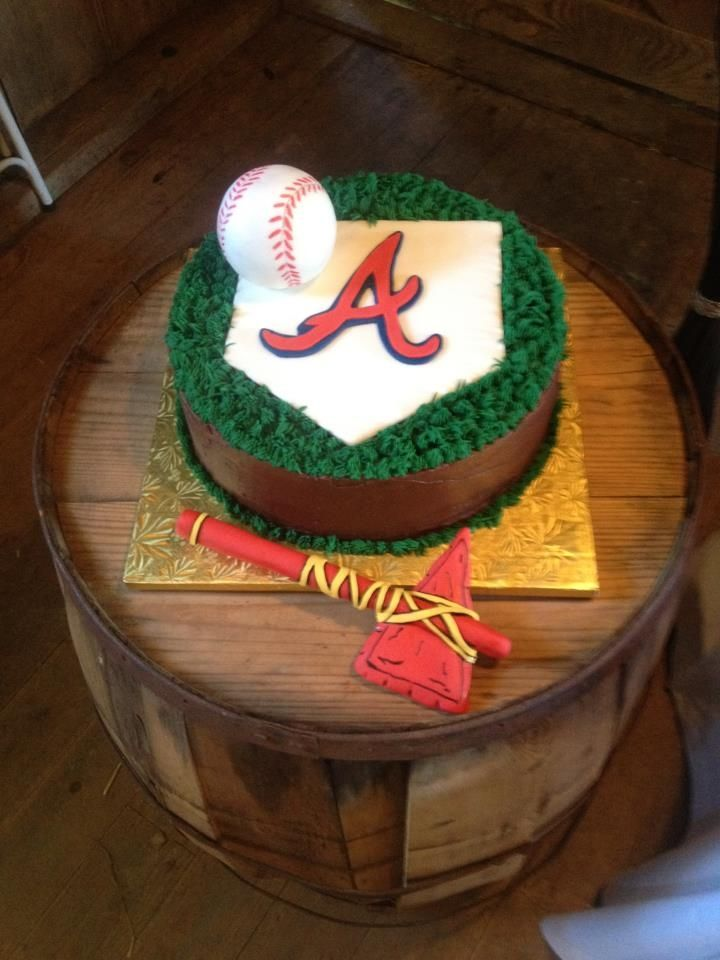 Atlanta Braves Cake Baseball Mlb Atlanta Braves Cake Brave Cakes Baseball Birthday Cakes