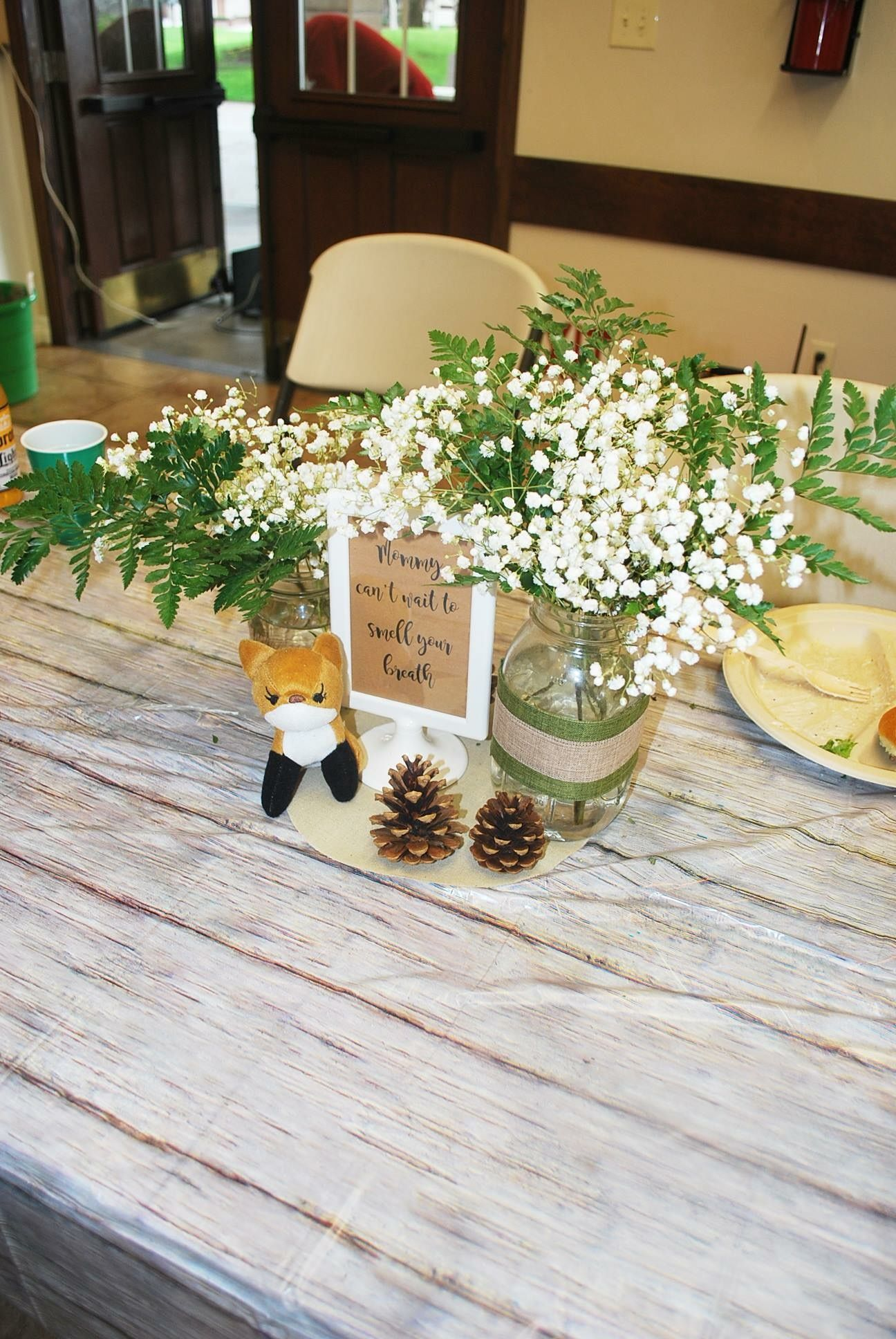 Woodland Theme Baby Shower Centerpieces Woodland Baby Shower