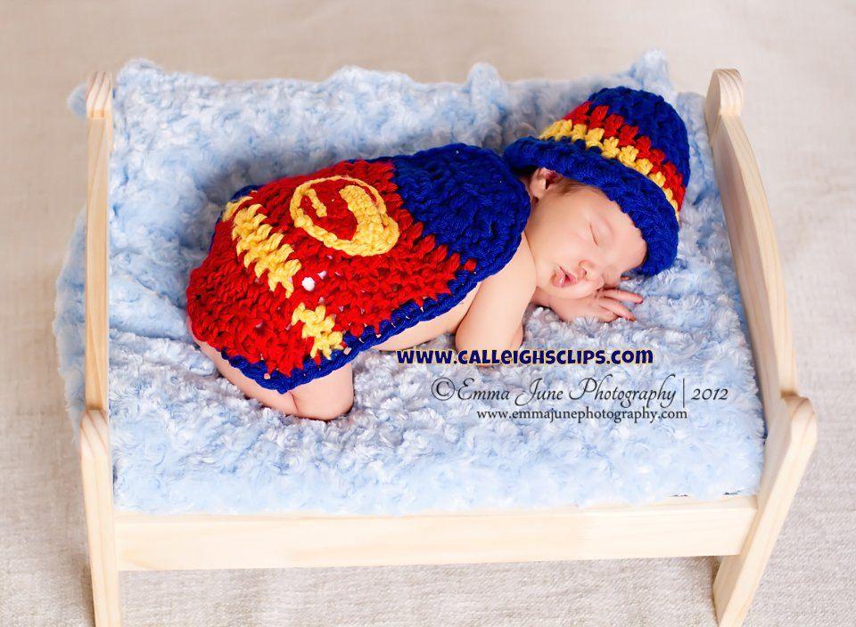 Free Crochet Pattern Baby Capelet : superhero crochet hat Crochet Pattern - Superbaby ...