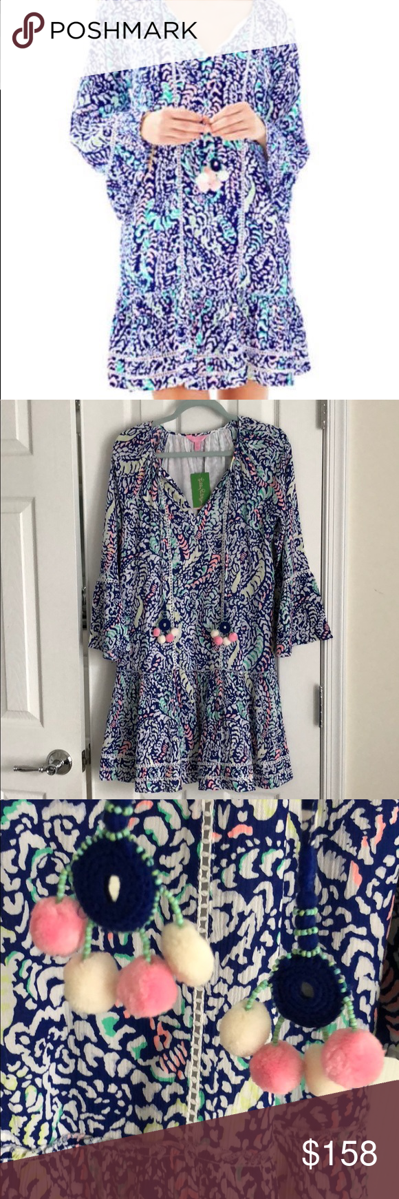 273225d985a NWT Lilly Pulitzer Percilla tunic dress Blue grotto move it or lose it - Lilly  Pulitzer tunic dress that is incredibly comfortable and perfect for spring  ...