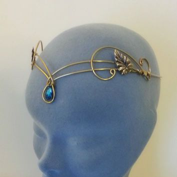 Celtic Leaves Crescent Moon Bridal Wedding Headpiece Tiara Circlet for Hair, Sterling Silver, Handmade - Google Search