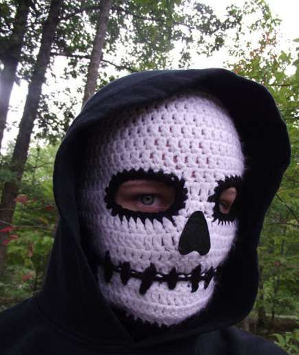 Sinister Skull Face Warmers Crochet Crochet Hats Crochet Skull